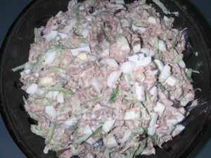 Салат из мяса с арахисом