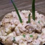 Салат из копченой грудинки