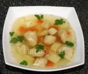 Суп из цветной капусты.