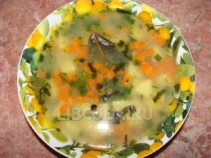 Суп куриный с вермишелью.