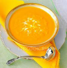Морковный суп-пюре.
