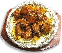 Аппетитная говядина под кисло-сладким соусом
