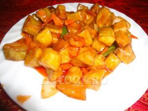 Баклажаны в кисло сладком соусе