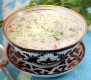 Холодный узбекский суп «Чалоп»