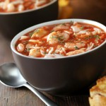 Испанский суп с креветками