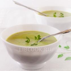 Молочный суп из авокадо
