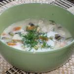 Норвежский  (fiskesuppe) из рыбы и морепродуктов