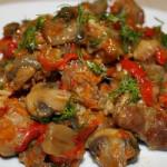 Овощи с грибами
