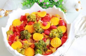 Овощное ассорти с брокколи