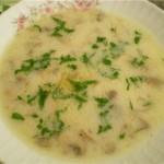 Суп грибной с сыром