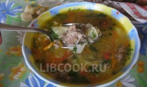 Суп из говяжьей тушенки