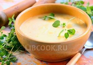 Суп пюре из картофеля с цветной капустой
