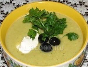 Суп-пюре с оливками