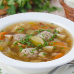 Суп с рыбными тефтельками