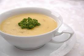 Суп сырный со свининой и чесноком