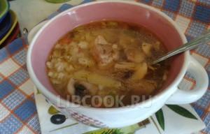 Свиной суп с перловкой