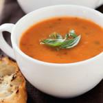 Сырный крем-суп с кукурузой и томатной пастой