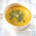 Сырный суп-пюре с фасолью и яйцом