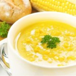 Сырный суп с беконом и кукурузой