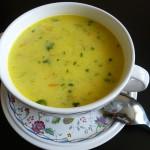 Сырный суп с мясом и овощами