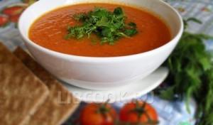 Томатный суп-пюре с курицей