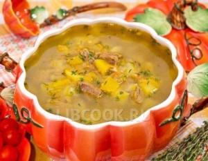 Тыквенный суп с мясом