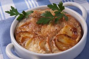 Яичница запеченая с картофелем