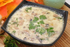 домашний сырный суп с овощами