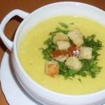Куриный крем-суп с миндалём