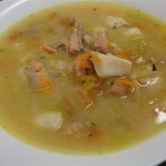 Рыбный суп из трески с рисом и пекинской капустой