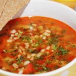 Суп рыбный из тунца с перловкой