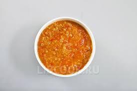 сыный суп с чечевицей и томатами