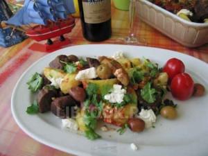 Баранина с овечьим сыром и картофелем