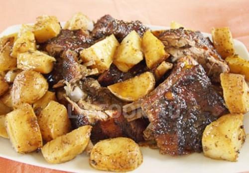 Баранина с картошкой тушеная в духовке рецепт