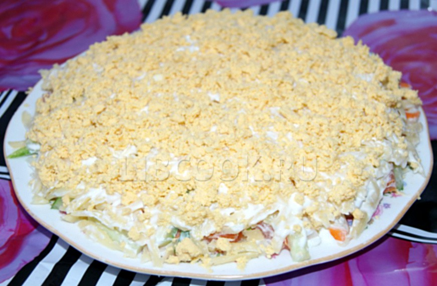 слоеные салаты на зиму рецепты с фото