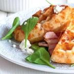 Сырные вафли  с луком