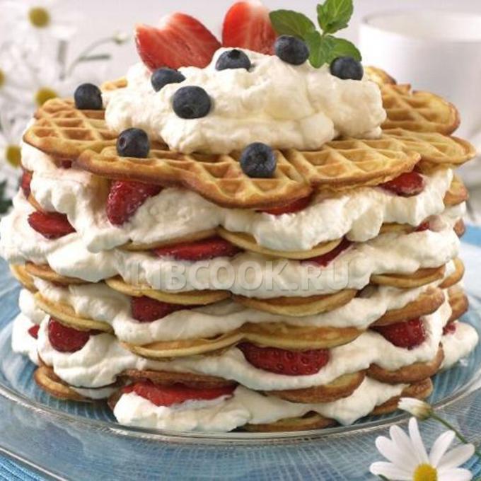 салат торт с вафельными коржами рецепт с фото