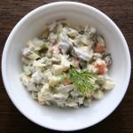 Зимний салат с говядиной