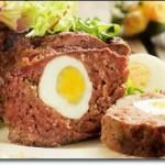 Мясная запеканка с яйцом