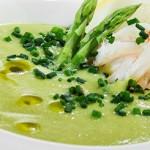 Cпаржевый суп с морепродуктами