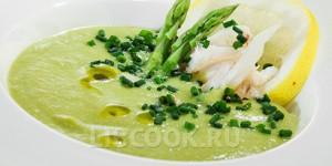 спаржевый суп с морепродуктами