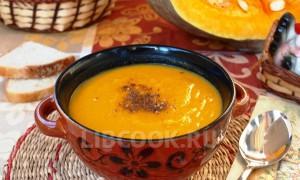 тыквенный суп-пюре и мясом индюшки