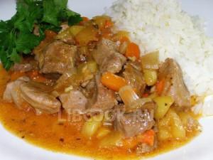 Индейка с рисом по-каджунски