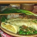 Бульбяно-тыквенная рулька с грибным соусом