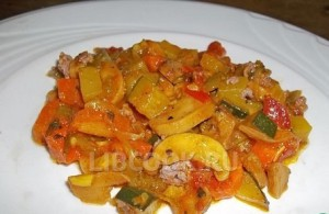 Рагу из овощей с шампиньонами Гармония
