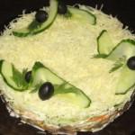 Салат «Сочный» с грибами