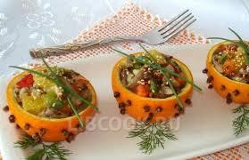 Салат из грибов с апельсинами