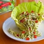 Салат из капусты с заправкой из брынзы