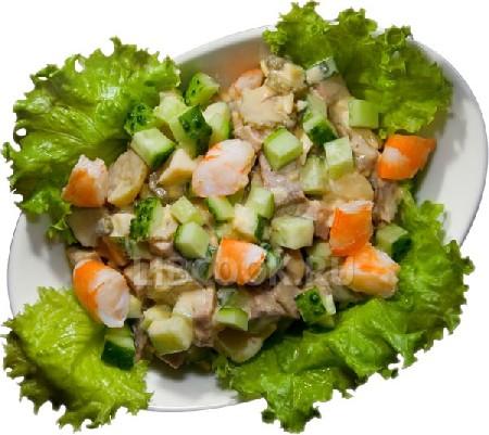 Салат из мяса с апельсиновым соком