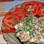 Салат из помидоров и морской капусты